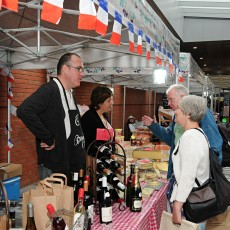 Cheese and Wine day stall at the new Market Walk