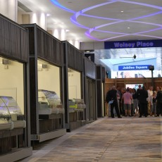 Kiosks at the new Woking Market redevelopment