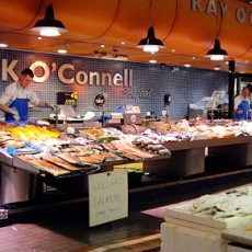 The English Market, Cork, fish counter