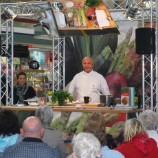 Aldo Zillin in the demo kitchen at Accrington