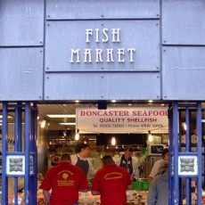 Doncaster Entrance to the fish market