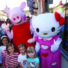 Hello Kitty and Peppa Pig at Southport market