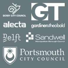 Quarterbridge clients Gardiner and Theobald, portsmouth, alecta, delft, derby