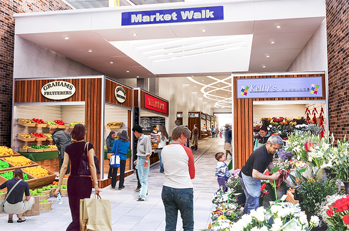News-Market walk artist impression