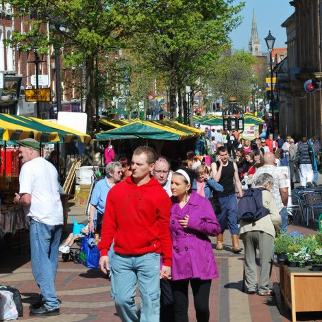 Worksop Busy Market