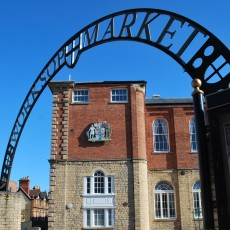 Worksop market sign
