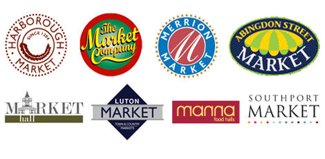 Promotion of Markets. Selection of logos designed by Quarterbridge
