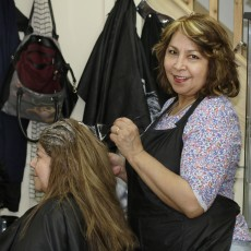 Hairdresser at seven sisters market